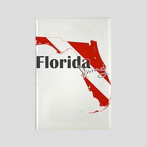 Florida Diver Rectangle Magnet