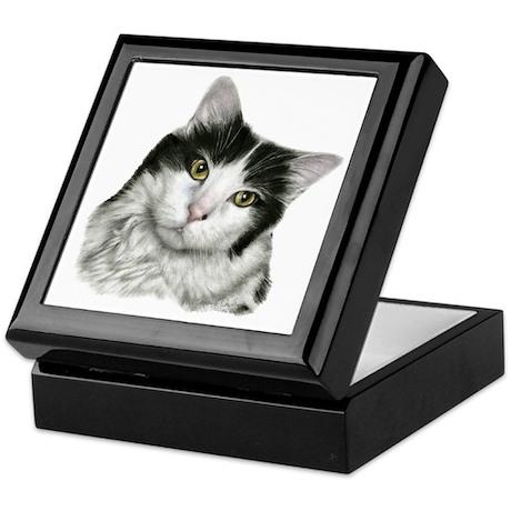 Pierre, Black & White Cat Keepsake Box
