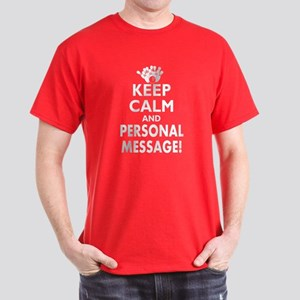 Personalized Keep Calm and Bowl Dark T-Shirt