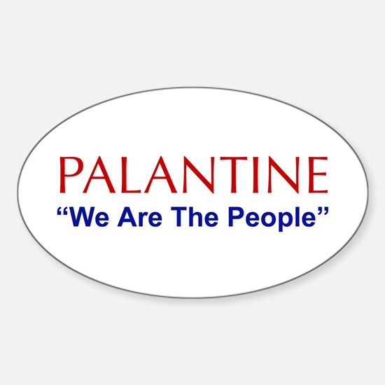 Palentine Oval Decal