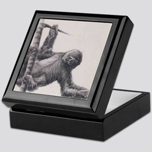 Sloth drawing Keepsake Box