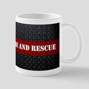 Fire and Rescue Diamond Plate Mugs