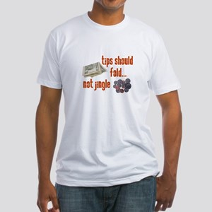Tips should fold Fitted T-Shirt