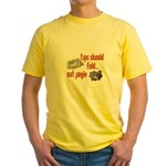 Tips should fold Yellow T-Shirt