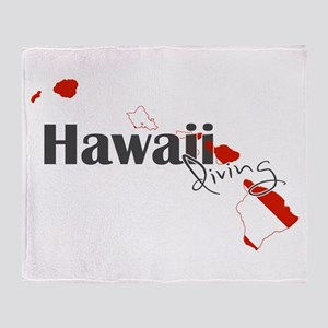 Hawaii Diver Throw Blanket