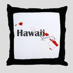 Hawaii Diver Throw Pillow
