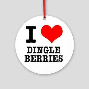 I Heart (Love) Dingleberries Ornament (Round)