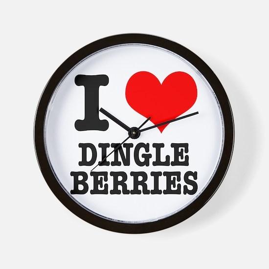 I Heart (Love) Dingleberries Wall Clock
