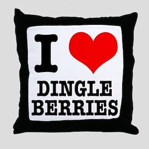 I Heart (Love) Dingleberries Throw Pillow