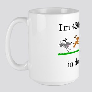 60 birthday dog years 1 Large Mug