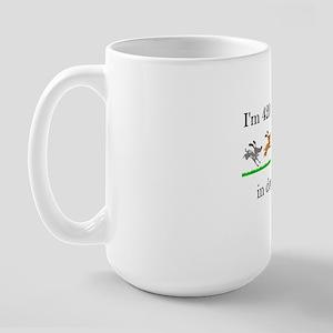 60 birthday dog years 1 Large Mug