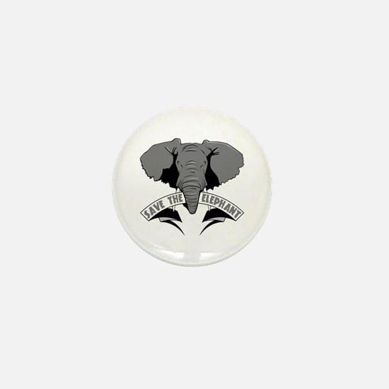 Save The Elephant Mini Button (100 pack)