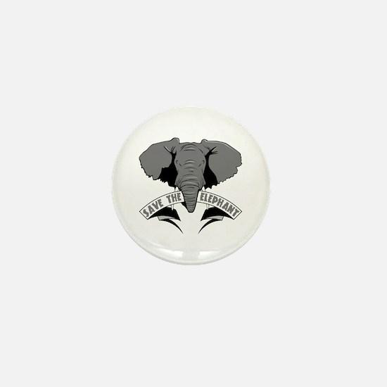 Save The Elephant Mini Button