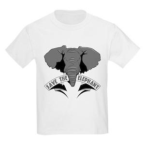 1359c2516 Save The Elephants Kids T-Shirts - CafePress