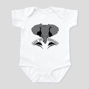Save The Elephant Infant Bodysuit