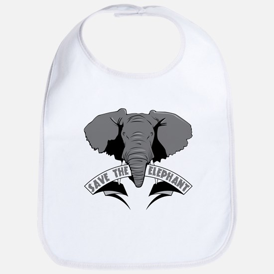 Save The Elephant Bib