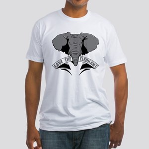 Save The Elephant Fitted T-Shirt