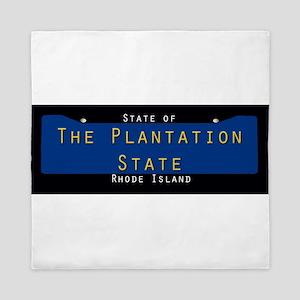 Rhode Island Nickname #3 Queen Duvet