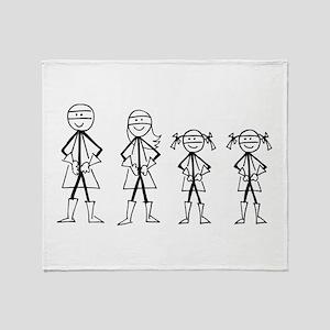 Super Family 2 Girls Throw Blanket