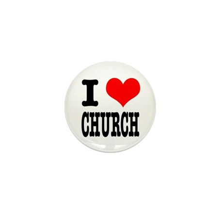 I Heart (Love) Church Mini Button