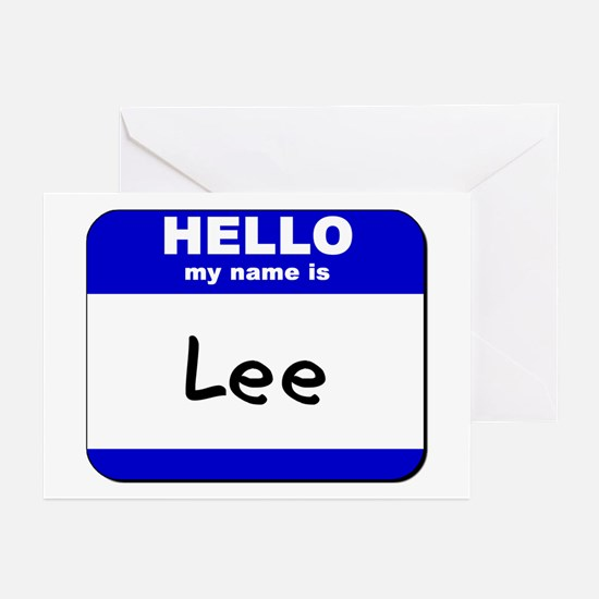 hello my name is lee  Greeting Cards (Pk of 10