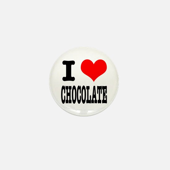 I Heart (Love) Chocolate Mini Button