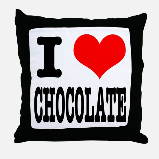 I Heart (Love) Chocolate Throw Pillow