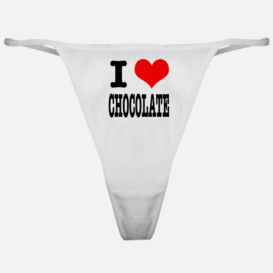 I Heart (Love) Chocolate Classic Thong