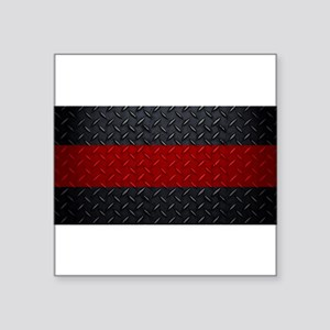 Diamond Plate Thin Red Line Sticker