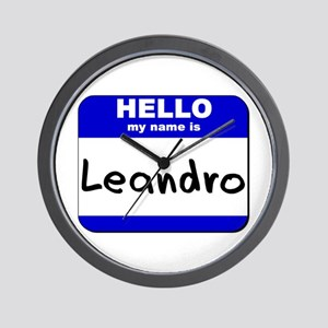 hello my name is leandro  Wall Clock