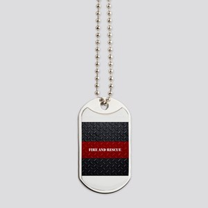 Fire and Rescue Diamond Plate Dog Tags