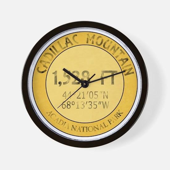 Cadillac Mountain Wall Clock