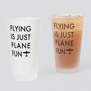 Plane Fun Flying 1504 Drinking Glass