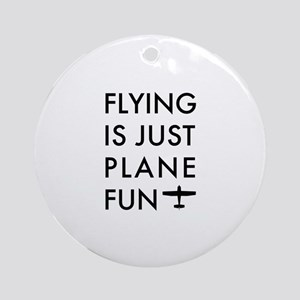 Plane Fun Flying 1504 Round Ornament