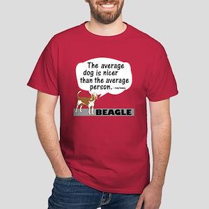 Beagle - Average Person - Dark T-Shirt