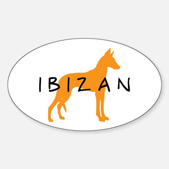 Ibizan Hound (gold) Oval Decal
