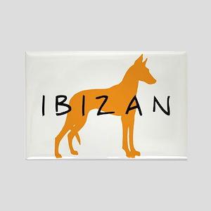 Ibizan Hound (gold) Rectangle Magnet