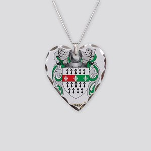Atkinson Coat of Arms Necklace Heart Charm