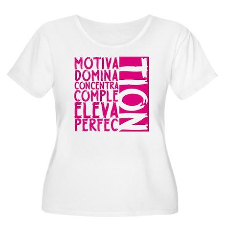 NEW MOTIVATIO Women's Plus Size Scoop Neck T-Shirt