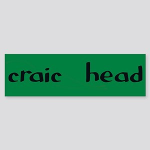 craic head Bumper Sticker
