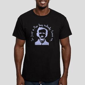 I'm just a Poe boy nob Men's Fitted T-Shirt (dark)