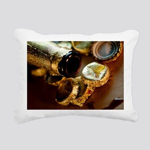 Golden Beer Bottle Caps Rectangular Canvas Pillow