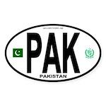 Pakistan Intl Oval Oval Sticker