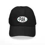 Pakistan Intl Oval Black Cap