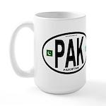 Pakistan Intl Oval Large Mug