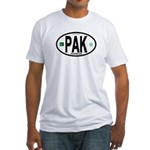 Pakistan Intl Oval Fitted T-Shirt