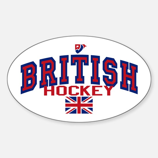 GB Great Britain Ice Hockey Oval Decal
