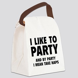 I Like To Party Canvas Lunch Bag