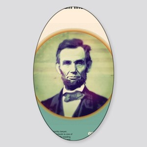 President Abraham Lincoln Sticker (Oval)