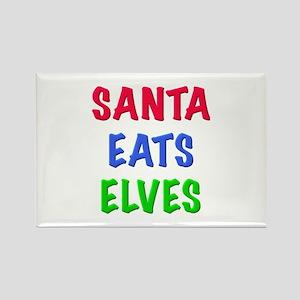 SANTA EATS ELVES Magnets